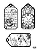 Viva Decor Clear Silicone A5 Stamp Set - Tags Time - 4003 123 00